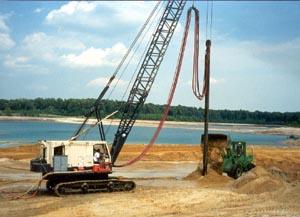 Crane mounted vibrator